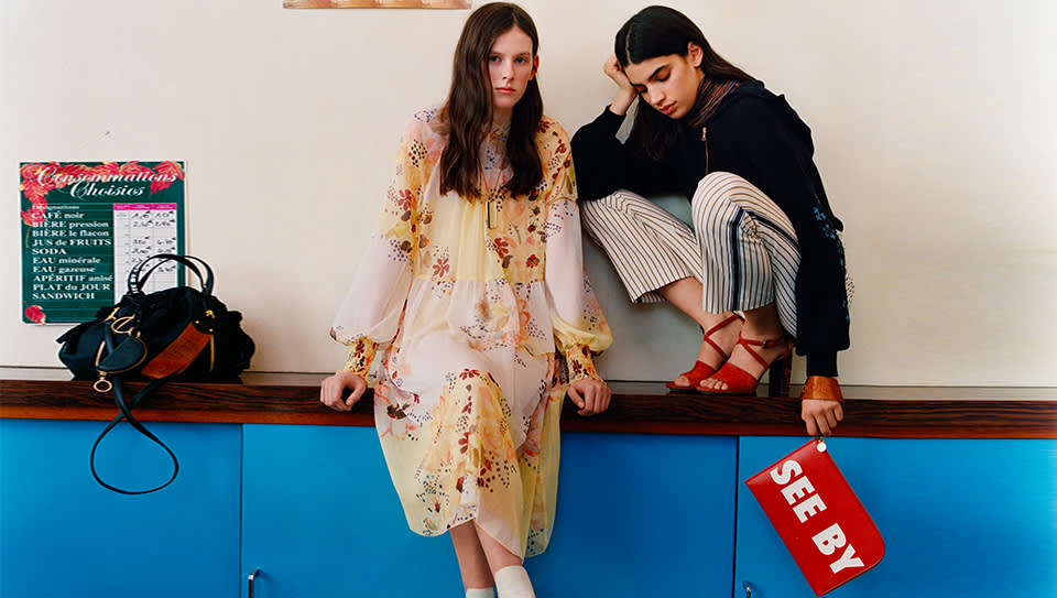 7b3aa2cdc5 The little sister label to French fashion house, Chloé. Feminine yet  contemporary pieces are what See by Chloé does best. Day dresses with  standout prints, ...