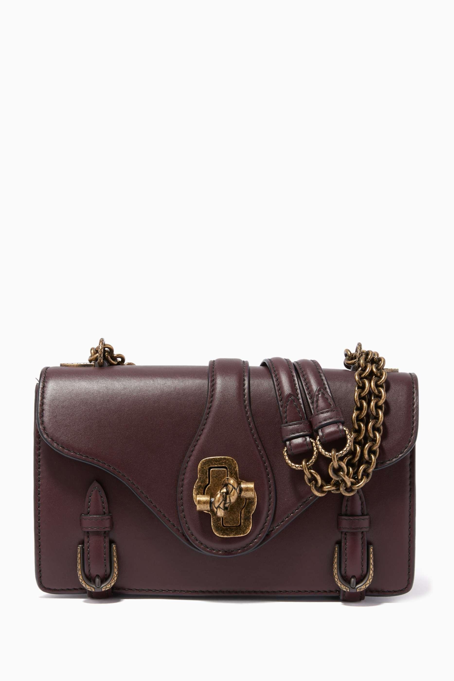 Burgundy City Knot Leather Bag