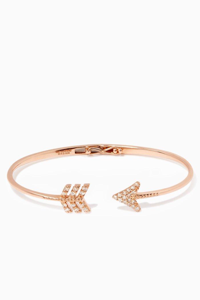 Rose-Gold & Diamond Eros Arrow Bangle