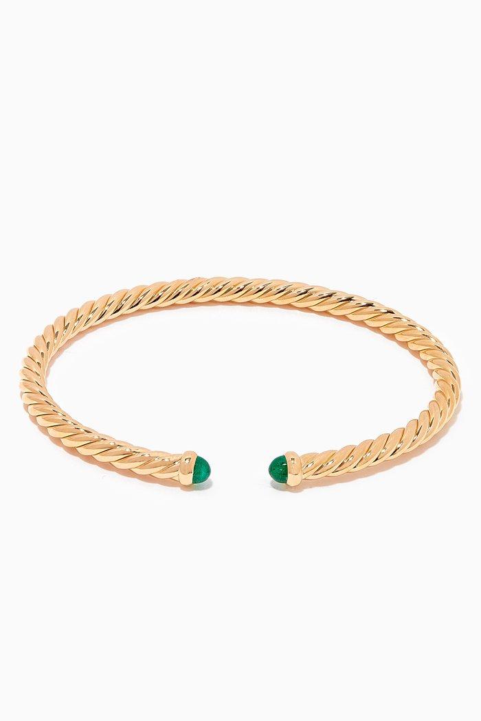 Cable Spira® Emerald Bracelet