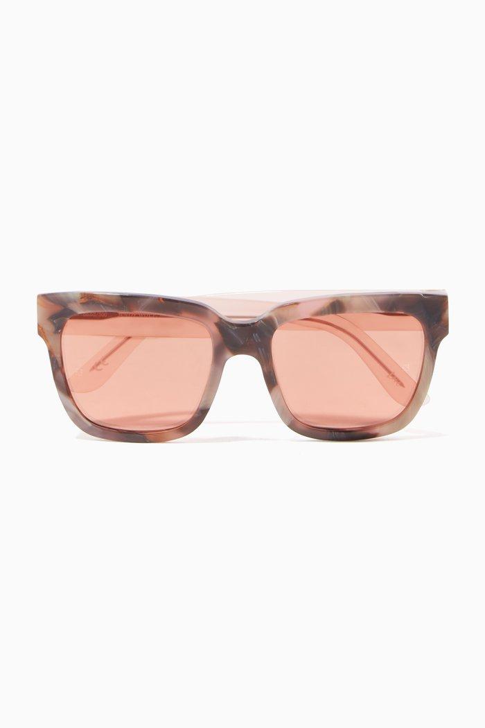 Pink Victoria Oversized Square-Frame Sunglasses