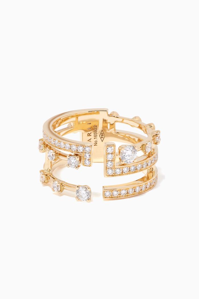 Avenues Diamond Ring 18kt Yellow Gold