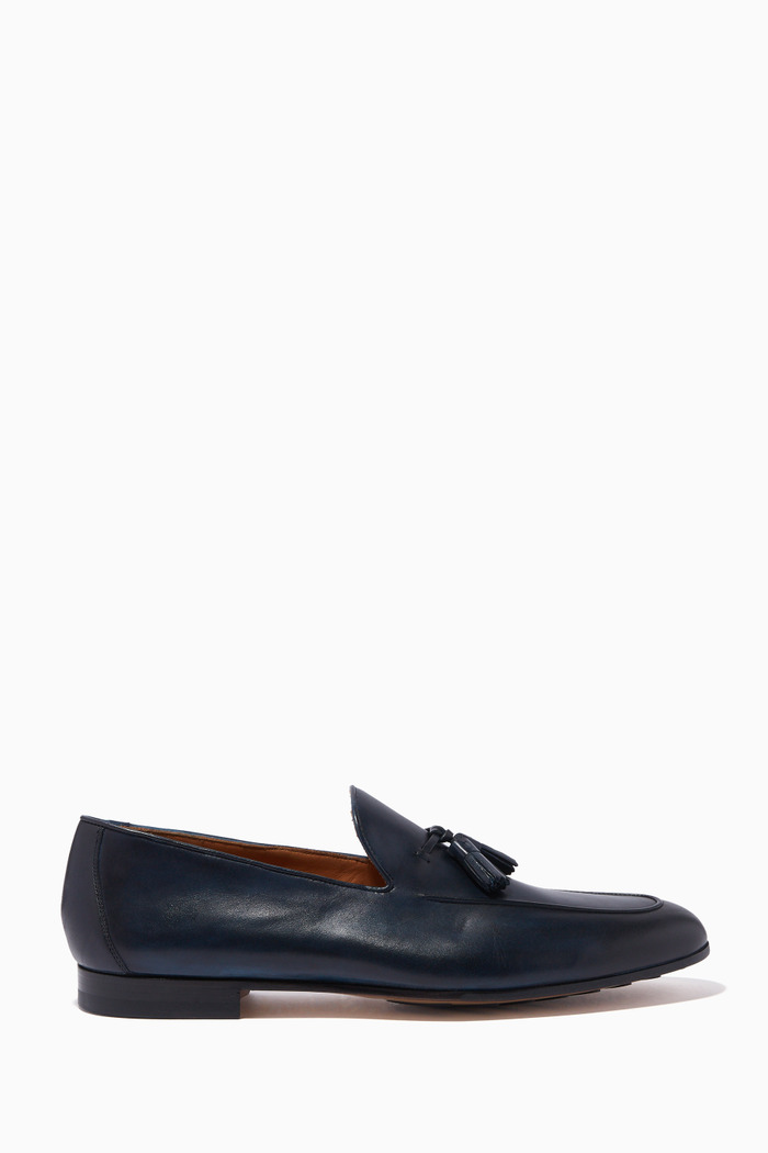 Navy Classic Tassel Loafers
