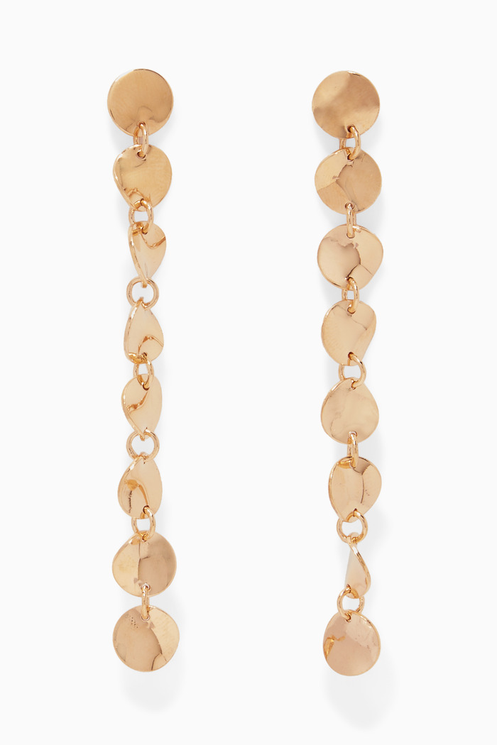 Gold-Plated Silver Wavee Disco Earrings