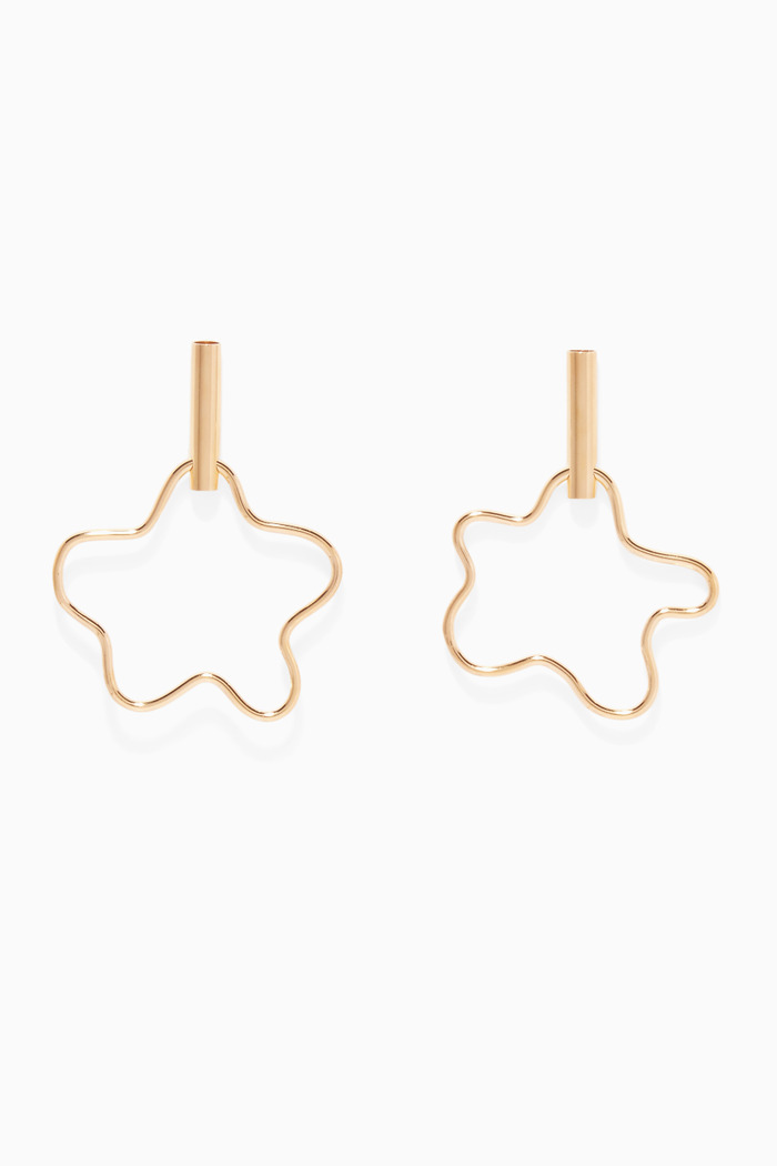 Gold-Plated Silver Squiggle Earrings