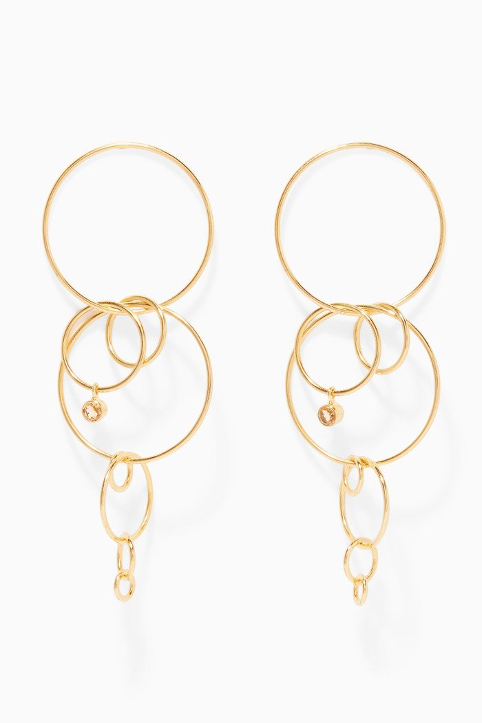 Gold-Plated Silver Layered Loop Earrings