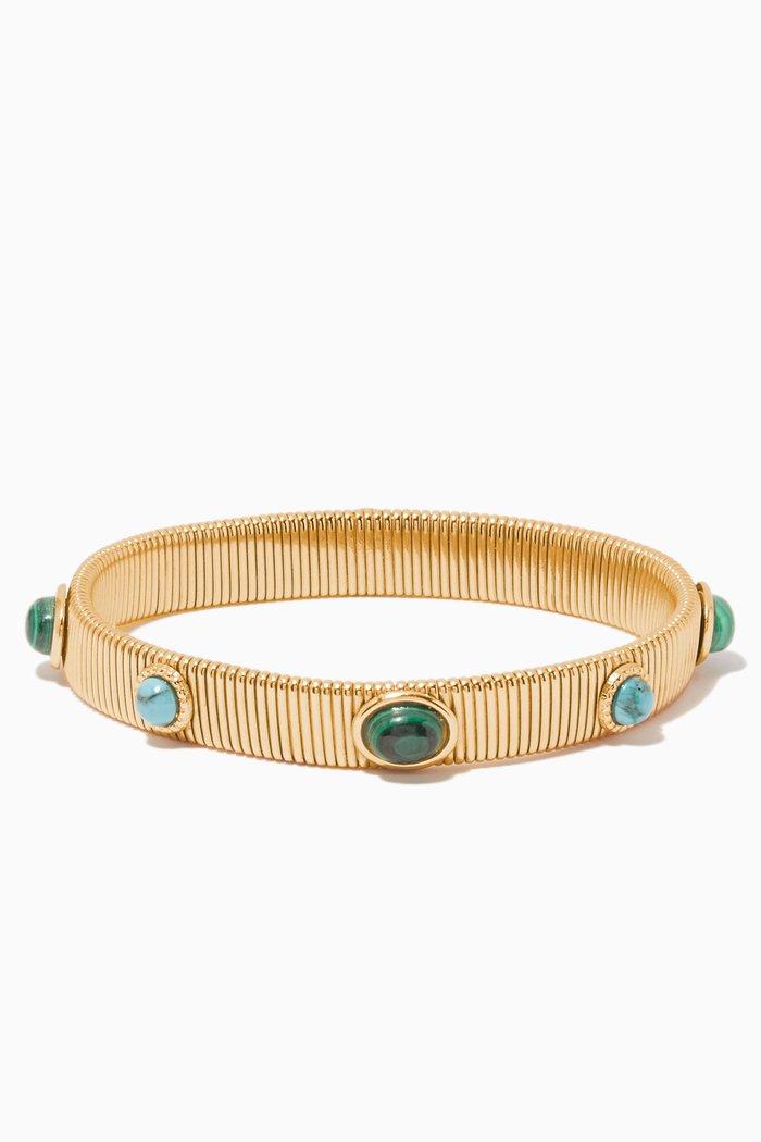 Gold & Turquoise Strada Bracelet
