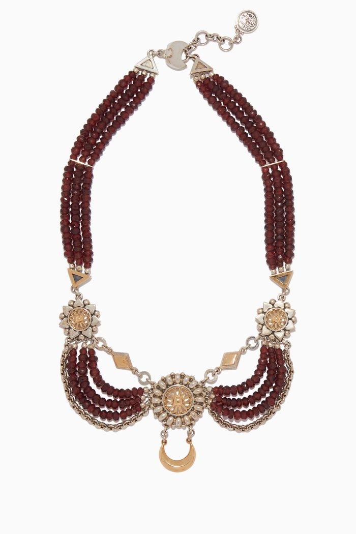 Red & Silver Contemporary Kirdan Necklace
