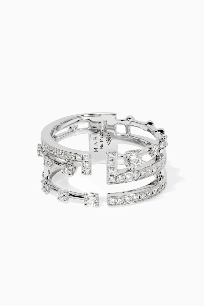 White-Gold & Diamond Avenue Ring