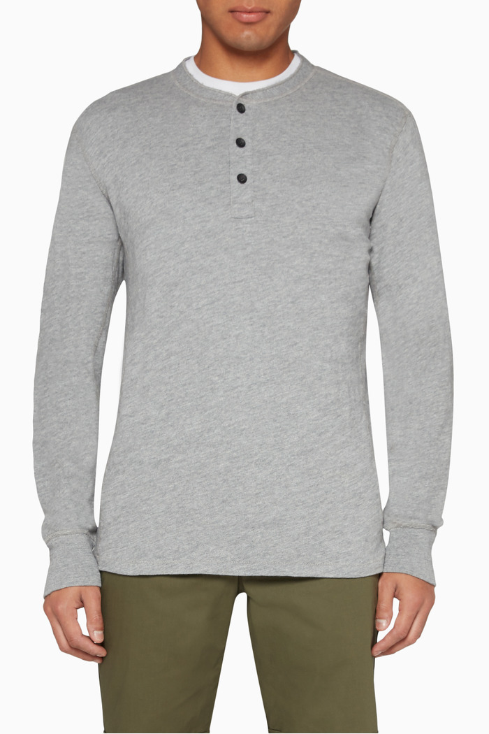 Classic Henley Cotton Top