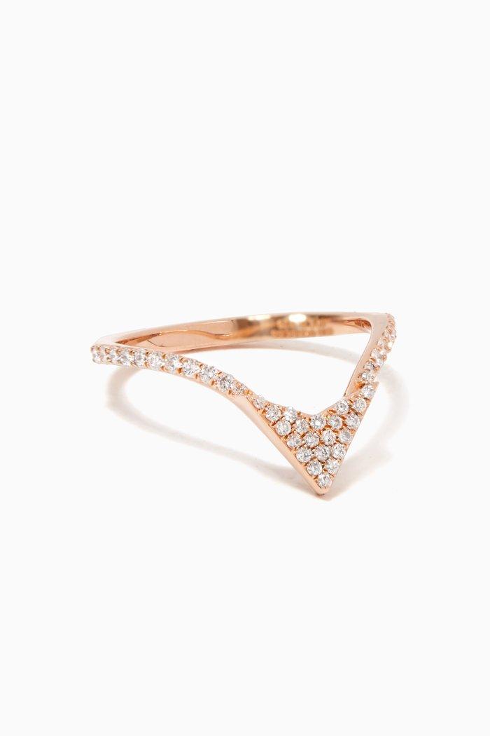 Rose-Gold & Diamond Eros Arrow Ring