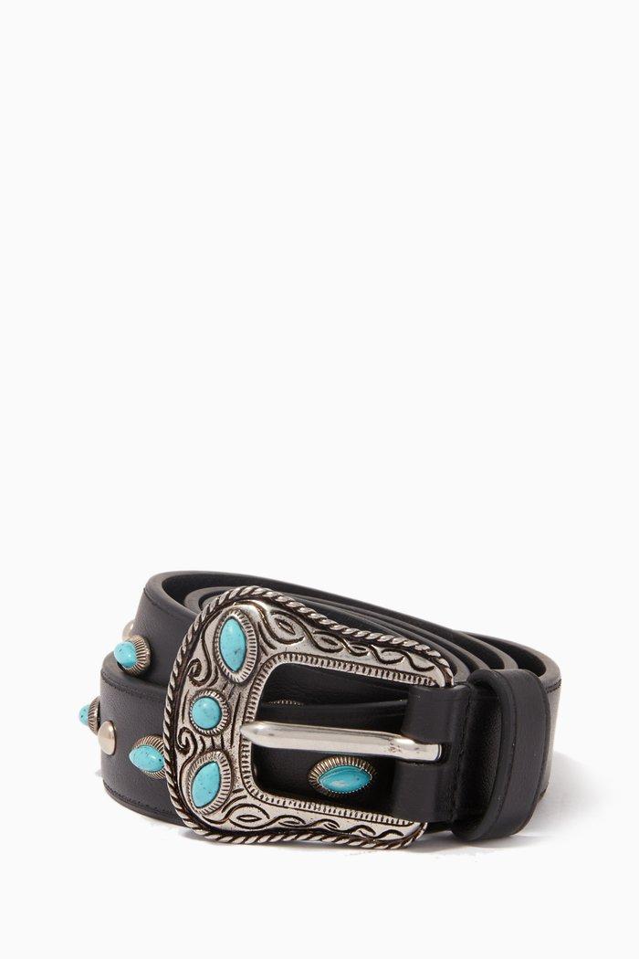 Black Embellished Belt