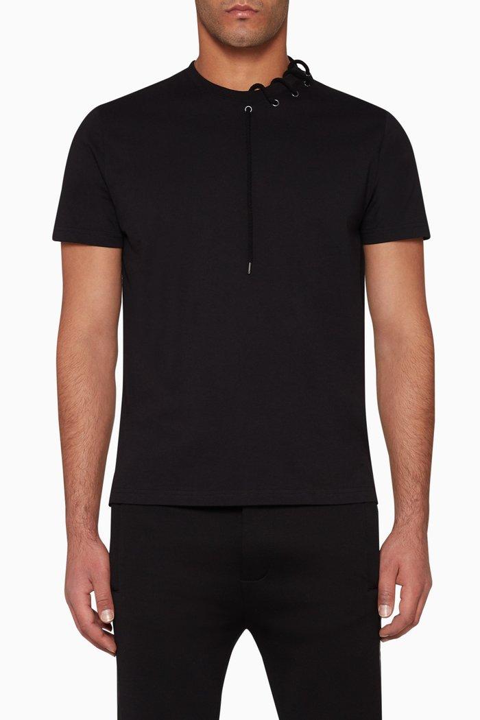 Lace-Trimmed Cotton T-Shirt