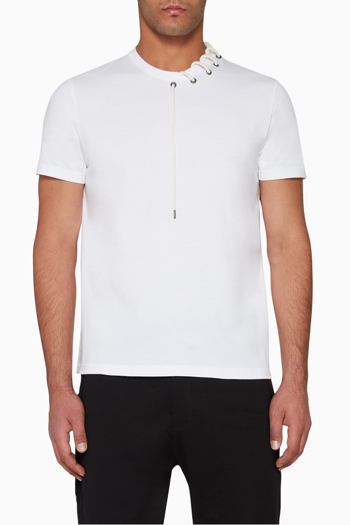 Laced Cotton T-Shirt