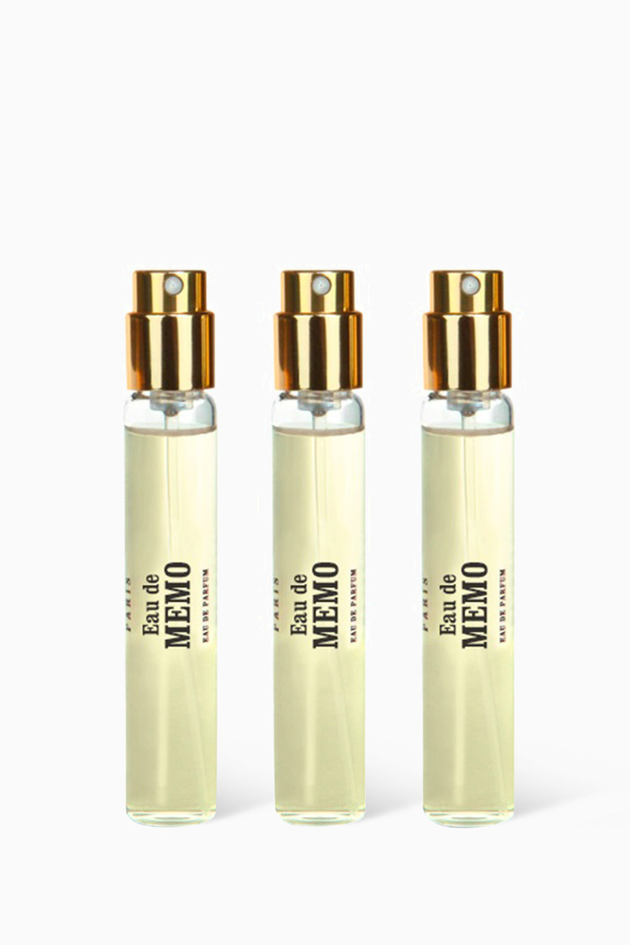 Eau de Memo Eau de Parfum Travel Spray Set, 3 x 10ml