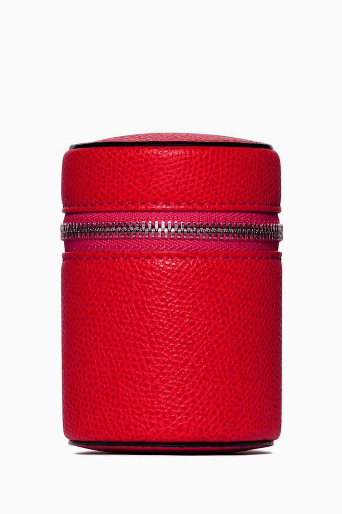 Red Large Valextra Leather Case