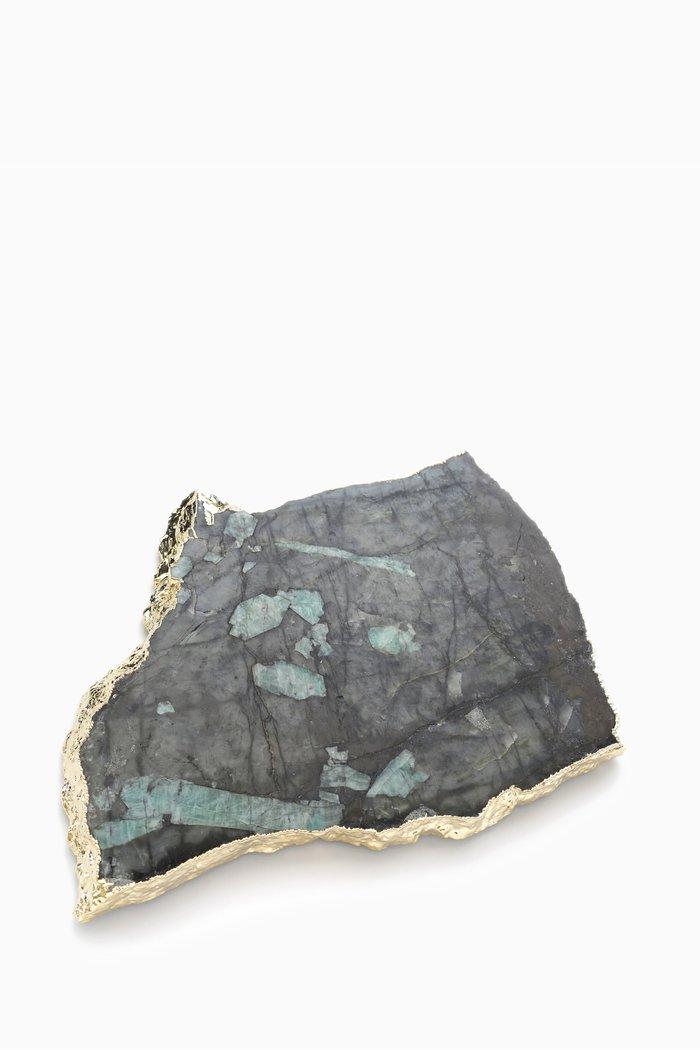 Gold Large Kiva Emerald Platter
