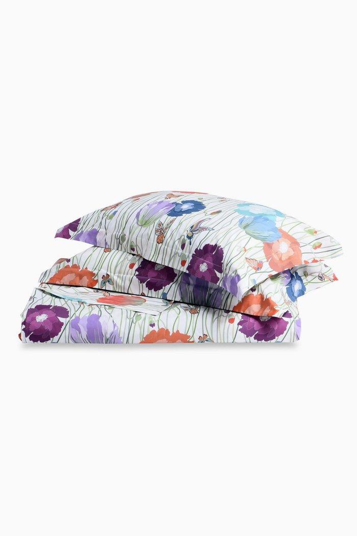 Light-Purple Violante Floral Print Duvet Set