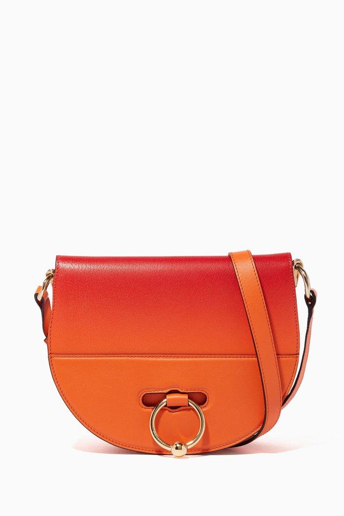 Tangerine Latch Cross-Body Bag