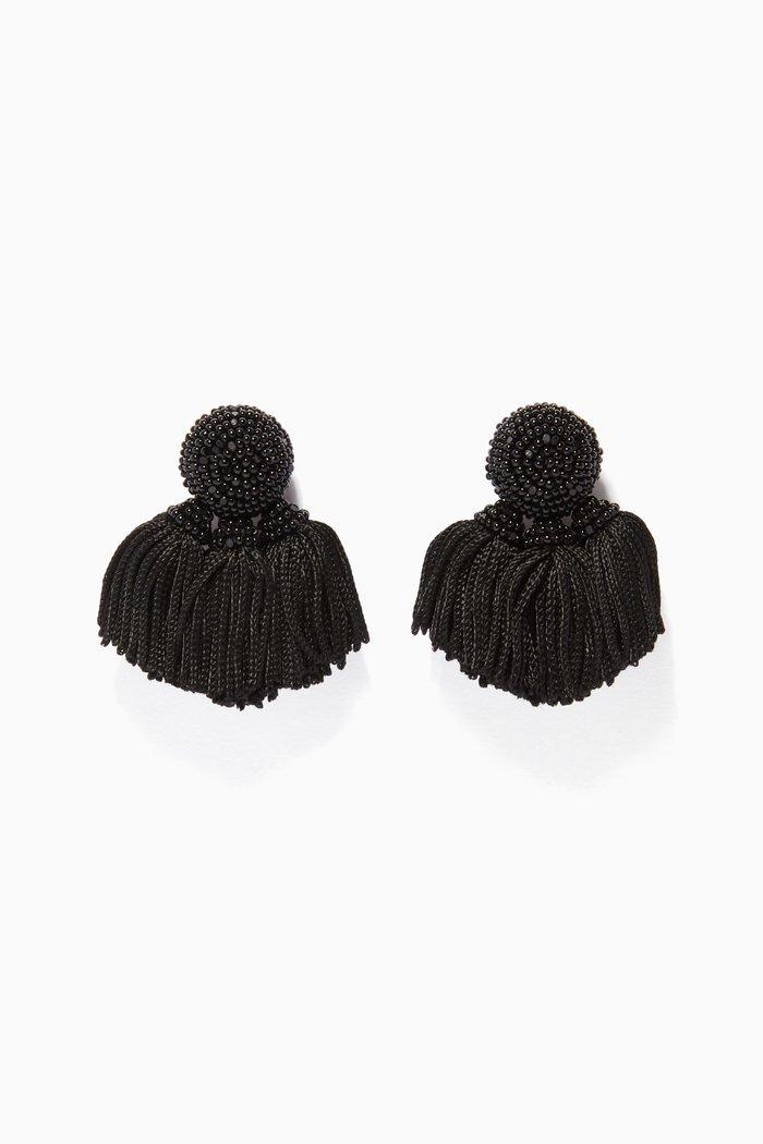 Black Mini Cha Cha Earrings