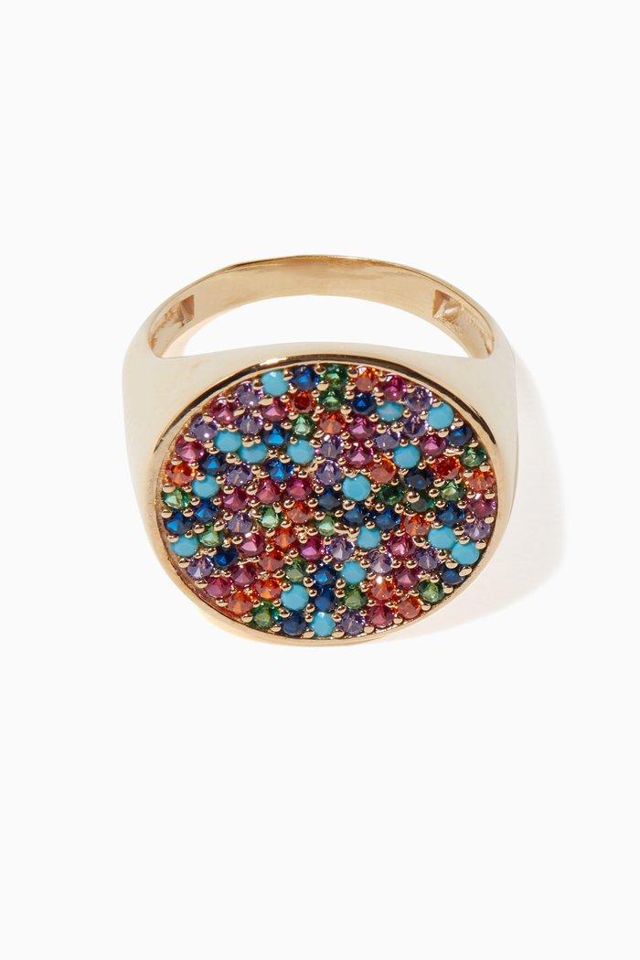 Multi-Coloured Tribal Signet Ring
