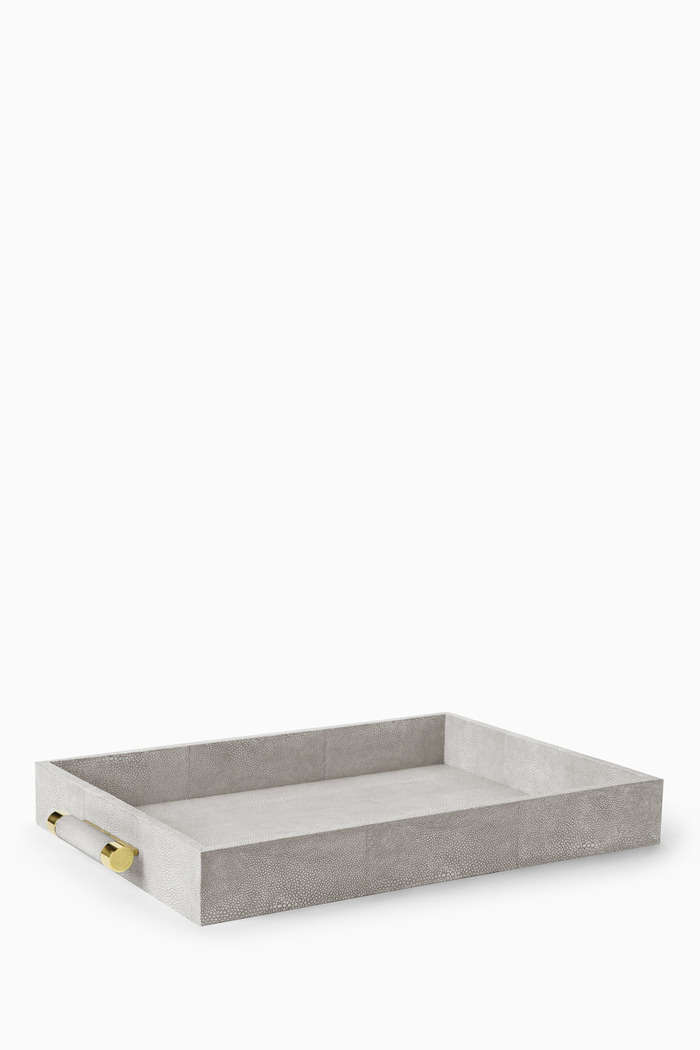 Dove Classic Shagreen Serving Tray