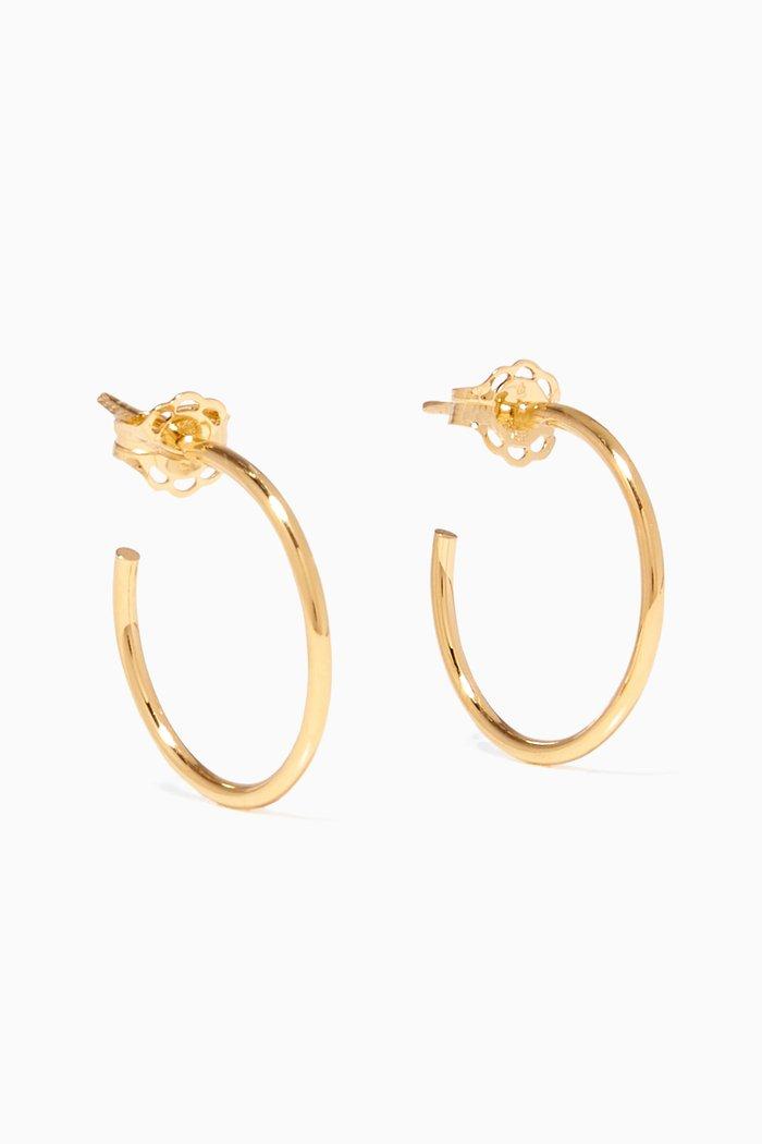 Gold Small Karla Hoop Earrings