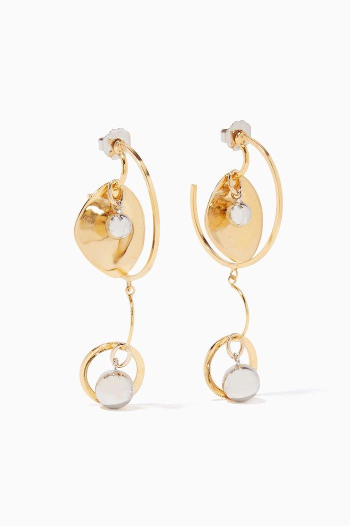 Gold & Silver Rotation Hoop Earrings