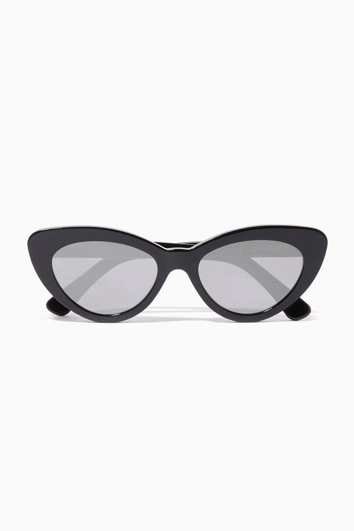 Black Pamela Cat-Eye Sunglasses