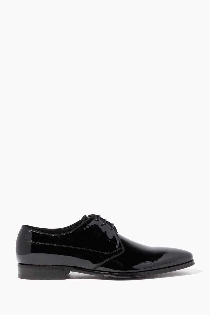 Black Como Patent Lace Up Shoes