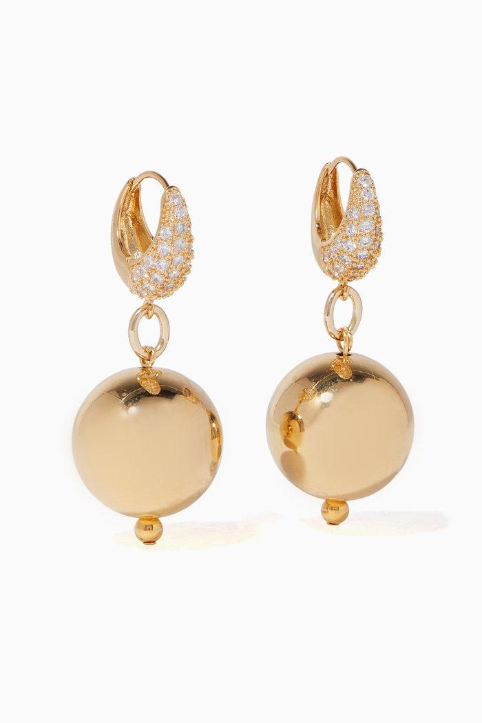 Gold Full Moon Earrings