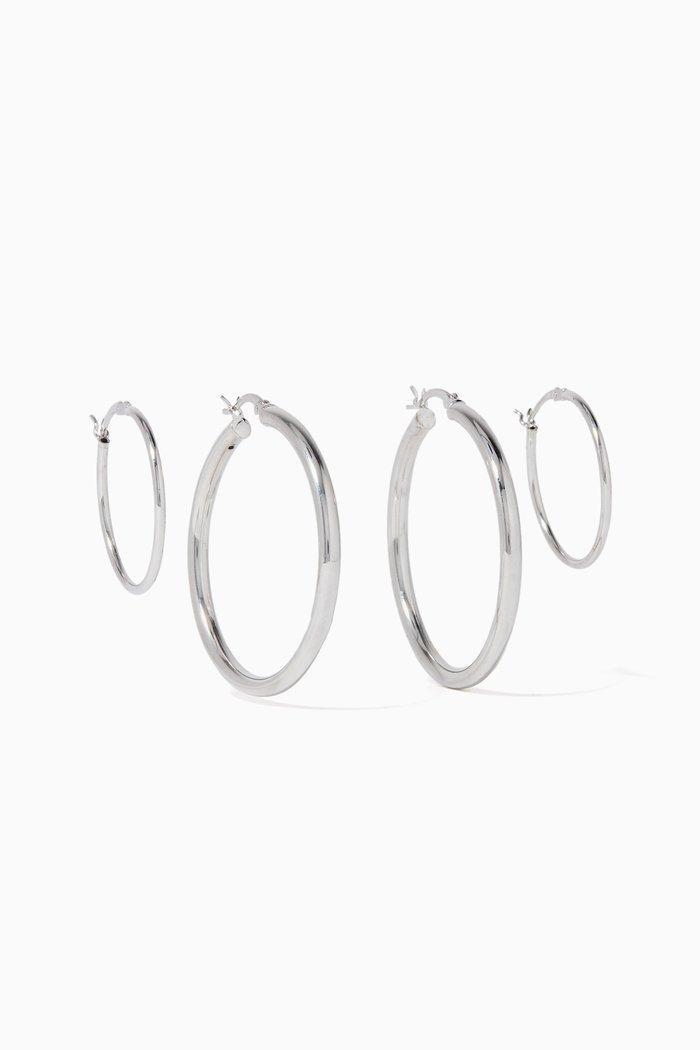 Silver Perpetuum Hoop Set