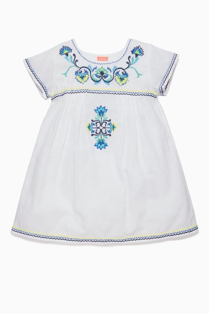 White Peruvian Embroidered Dress