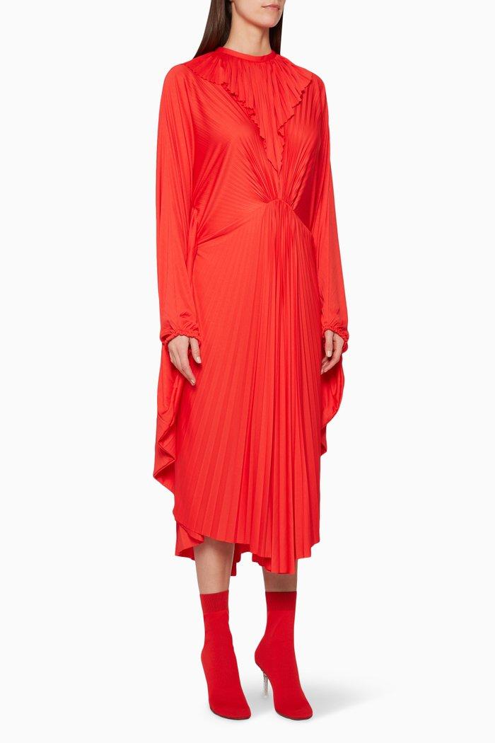Red Wing V-Neck Dress