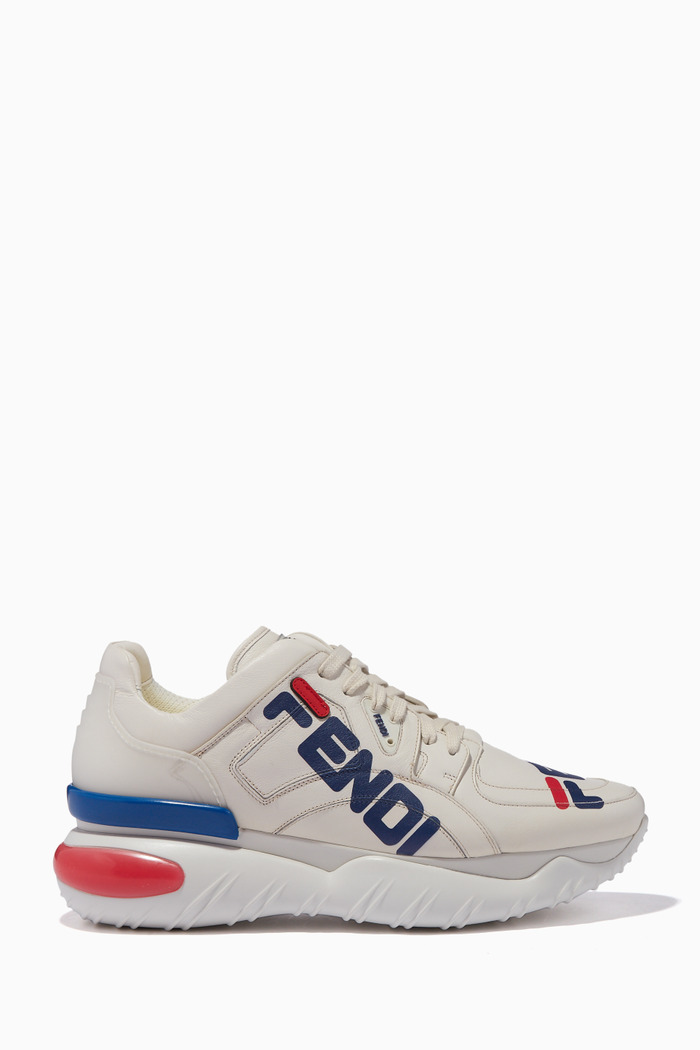 Off-White Mania Logo Leather Sneakers