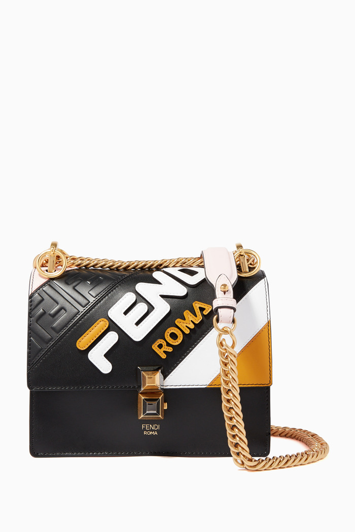 Black & Orange Fila Shoulder Bag