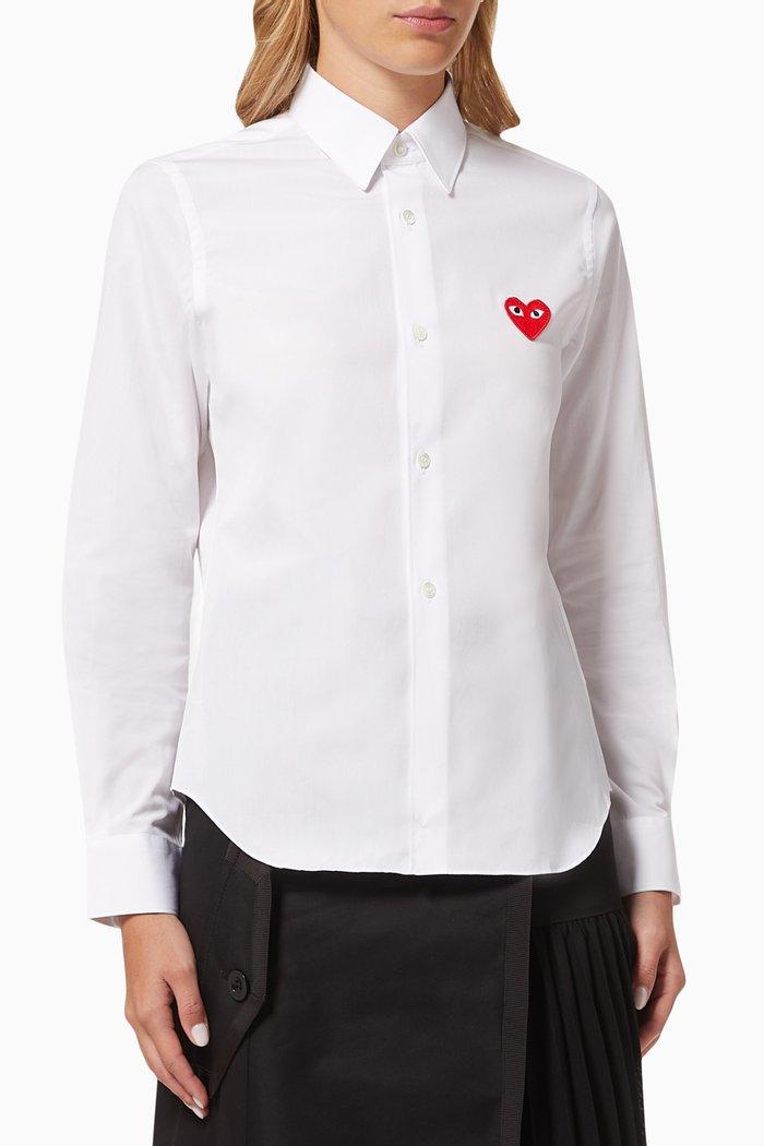 Heart Shirt in Cotton Poplin