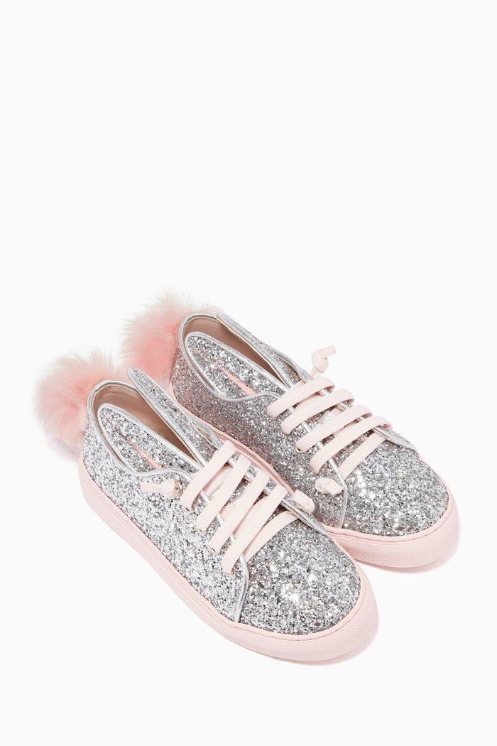 Silver Low Top Sneakers