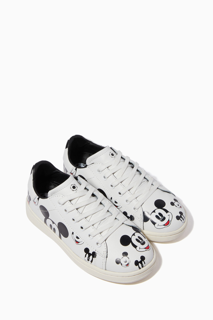 Mickey Mouse Leather Lace-Up Sneakers