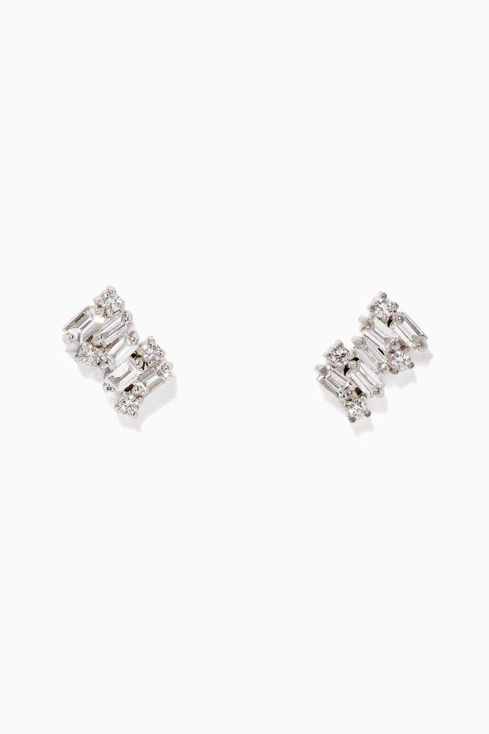 Fireworks Shimmer Diamond Earrings