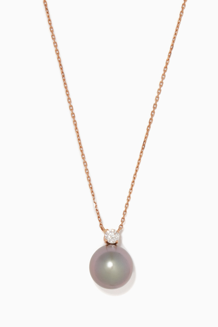 Pearl & Diamond Rose-Gold Necklace