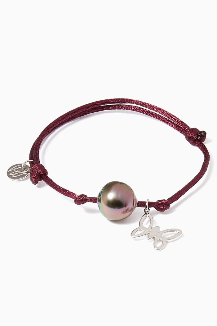 Pearl & Butterfly Charm Bracelet