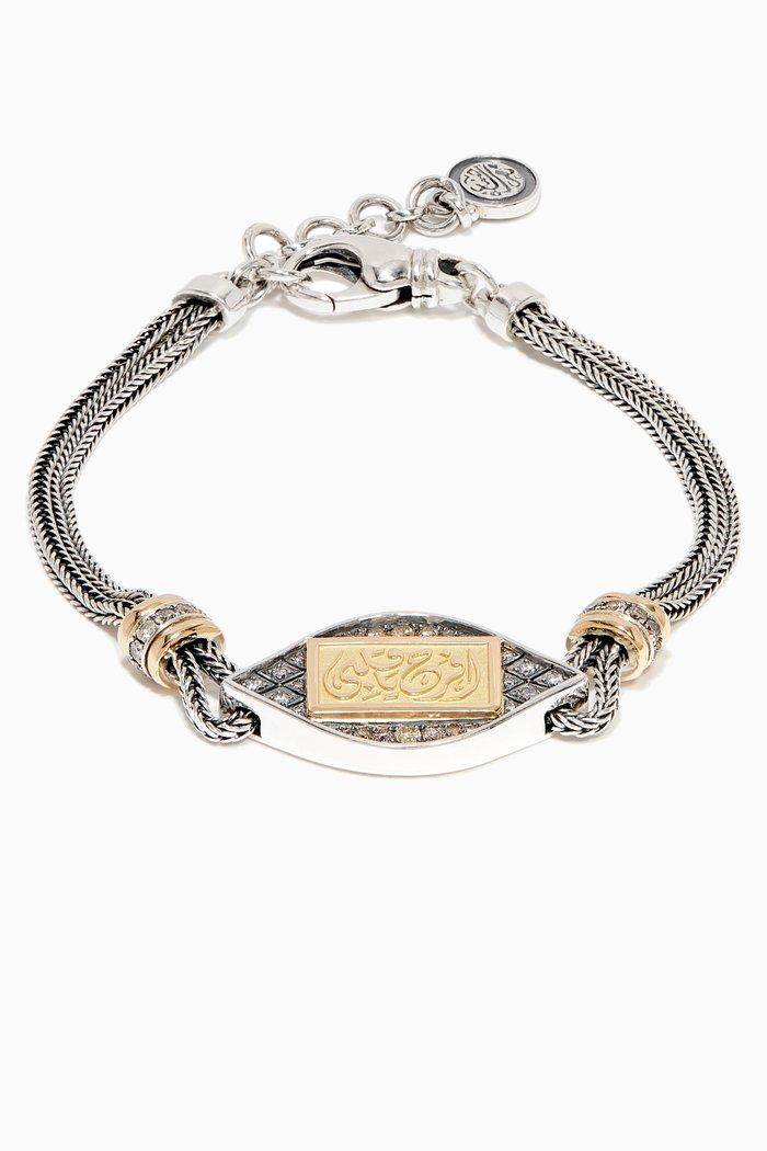 Sterling Silver & Yellow-Gold Art Deco Bracelet