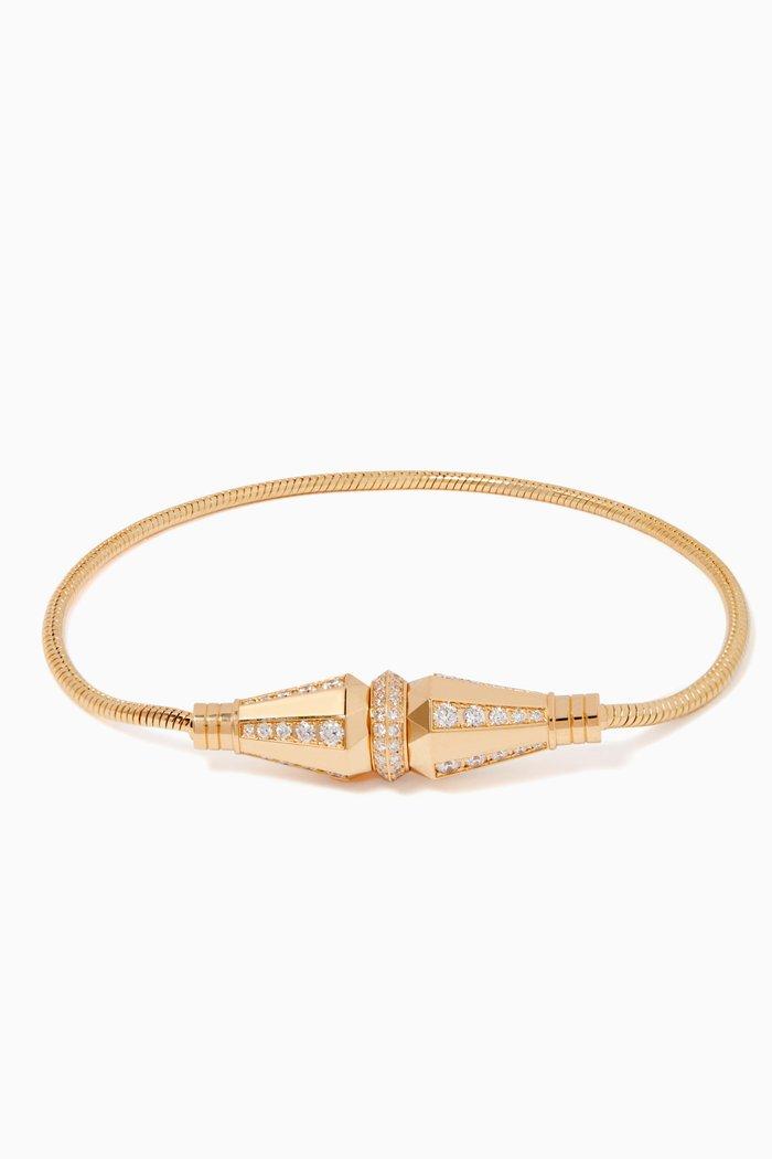 Jack De Boucheron Diamond Single Wrap Bracelet
