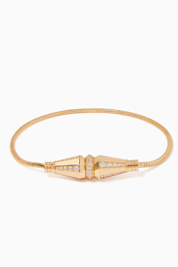 Jack De Boucheron Diamond Single Wrap Bracelet