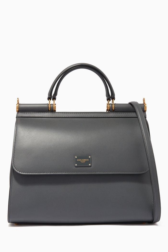Large Sicily 58 Calfskin Handbag