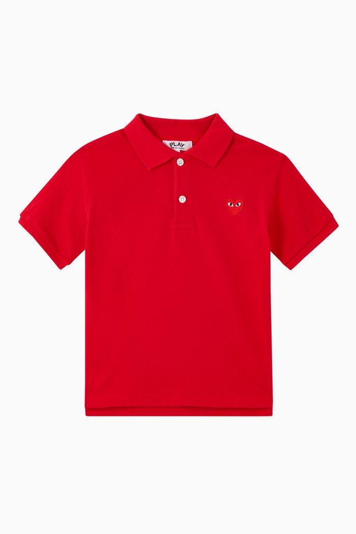 Heart Polo Shirt in Cotton