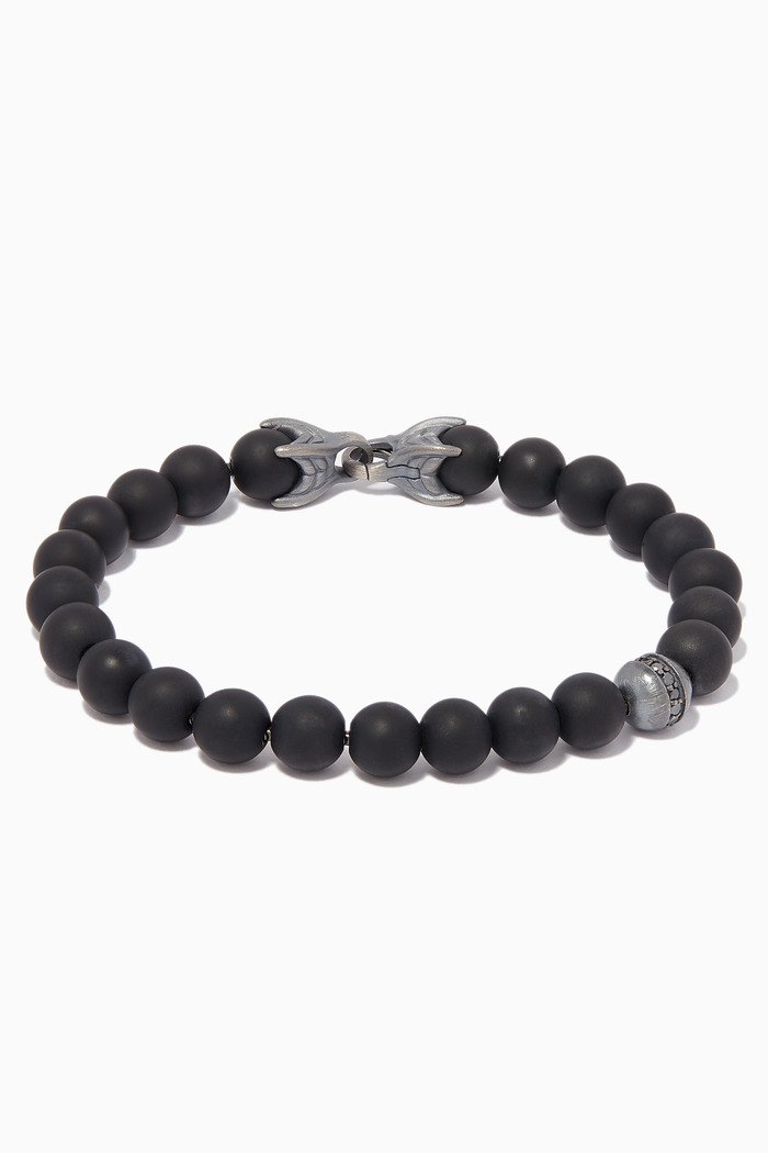 Spiritual Black Diamonds & Onyx Beads Bracelet