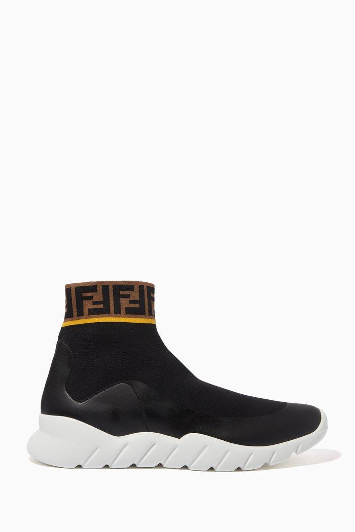 FF Logo-Print Tech Knit Sock Sneakers