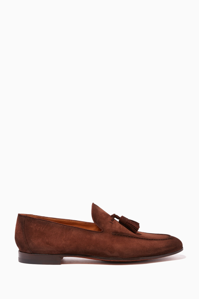Tasseled Suede Loafers